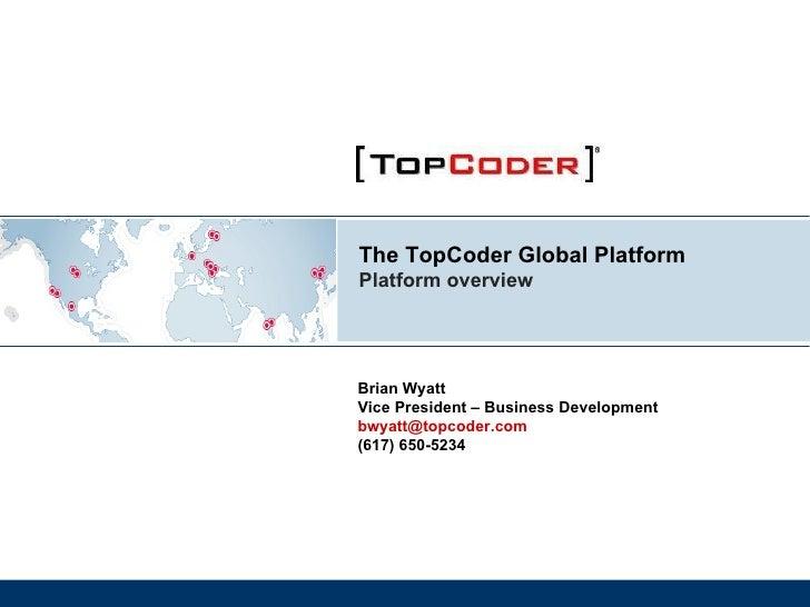 Top Coder Platform Overview 92209