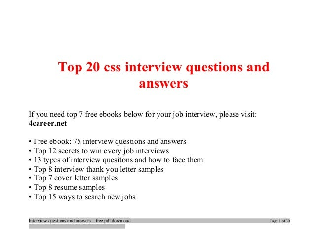Top 25 Job Interview Questions Typical Job Interview