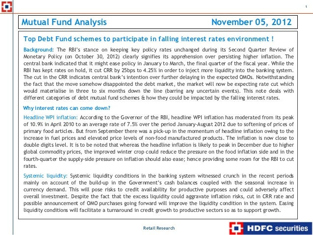 Top Debt fund schemes to participate in falling interest rates environment