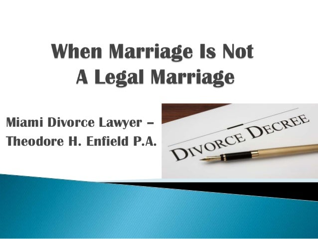 Miami Divorce Lawyer – Theodore H. Enfield P.A.