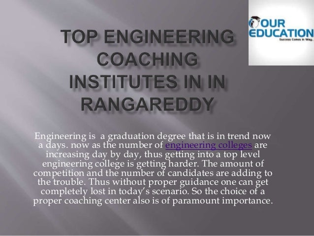 Engineering is a graduation degree that is in trend now a days. now as the number of engineering colleges are increasing d...