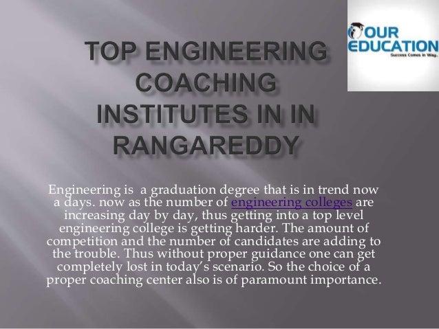 Top engineering coaching centers in rangareddy