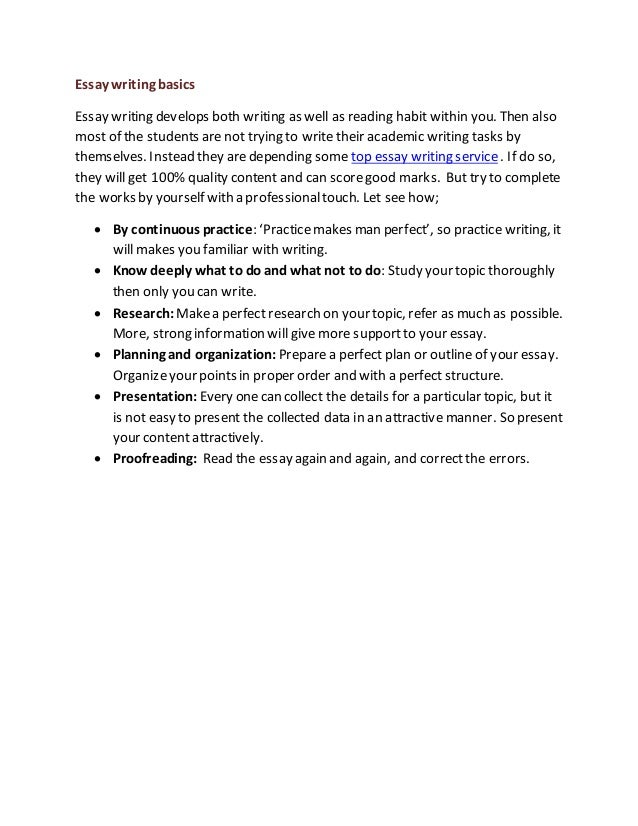 the basics of teaching writing essay Rather than worrying about an essay for weeks, suggest to your child to read through these 10 points, get in some early preparation and have the self-belief that they can do it.