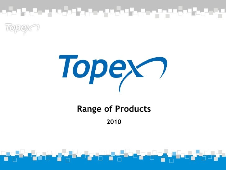 Range of Products 2010