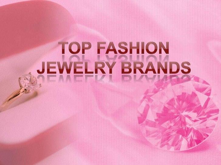 Top Fashion Jewelry Brands