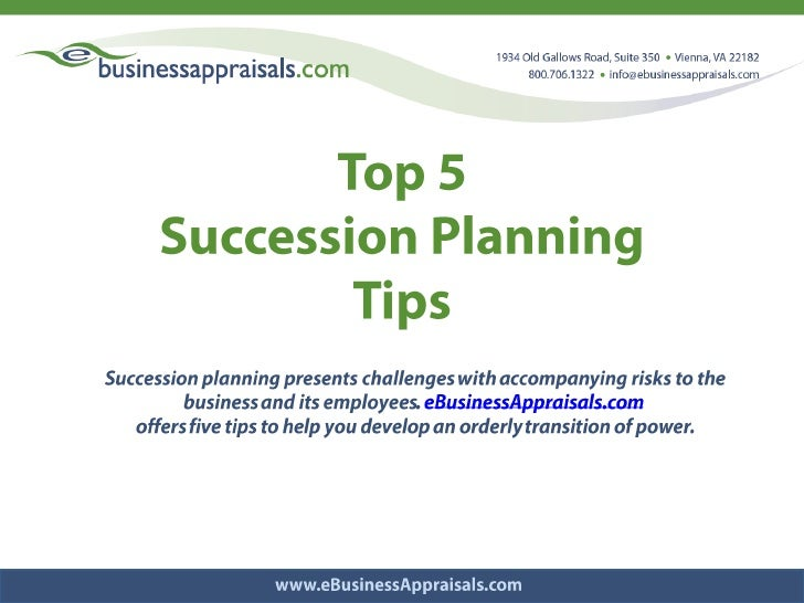 Top 5 <br />Succession Planning <br />Tips<br />Succession planning presents challenges with accompanying risks to the bus...
