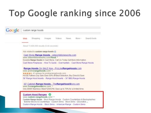 Top Google ranking since 2006