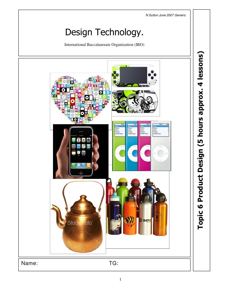 Topic 6 Product Design