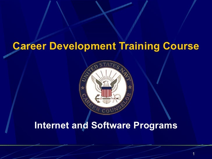Career Development Training Course   Internet and Software Programs                                    1