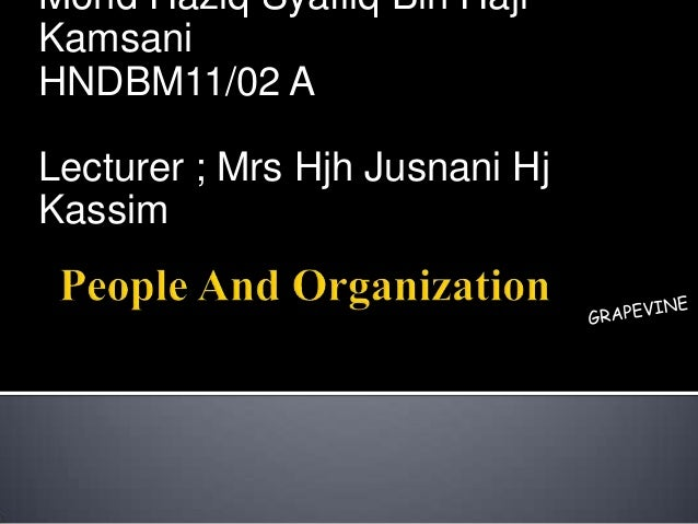 Mohd Haziq Syafiiq Bin HajiKamsaniHNDBM11/02 ALecturer ; Mrs Hjh Jusnani HjKassim