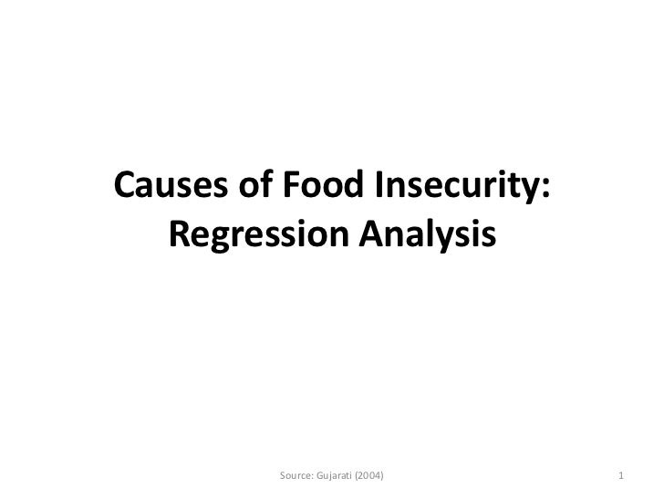 Causes of Food Insecurity:   Regression Analysis         Source: Gujarati (2004)   1