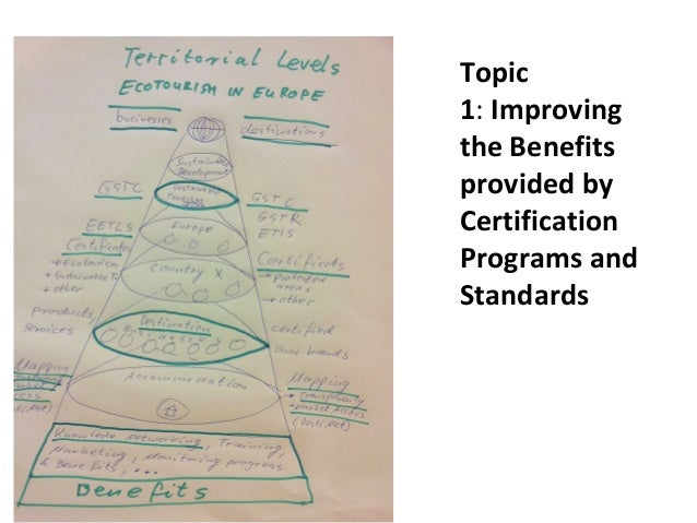 Topic 1:Improving the Benefits provided by Certification Programs and Standards