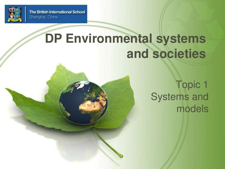 Topic 1 Systems and models