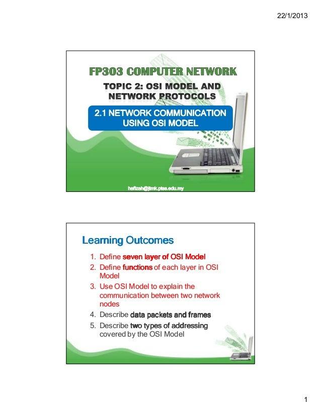 Topic 2.1 network communication using osi model
