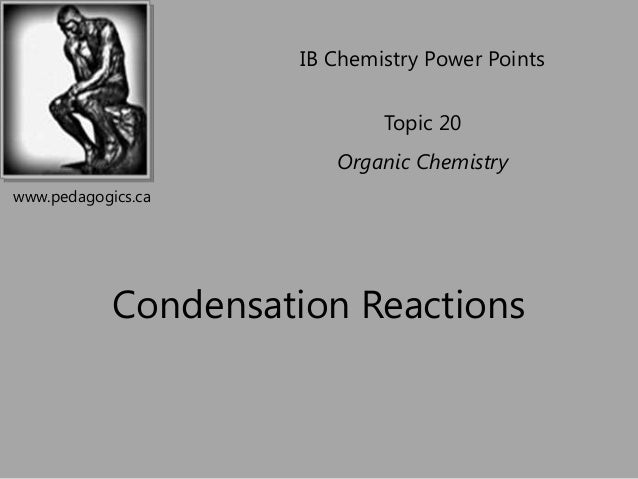 Topic 20 4    condensation reactions