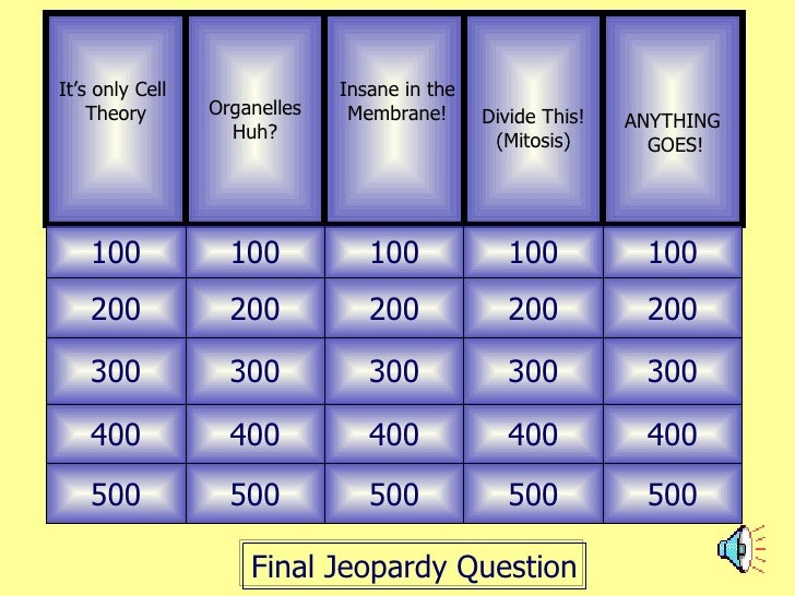 Topic 2 Bio Jeopardy Review