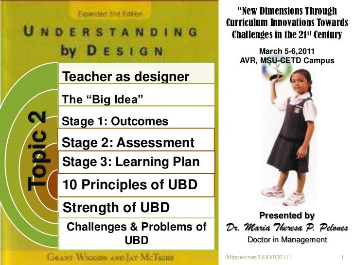 Topic2 understanding by the design at a glance