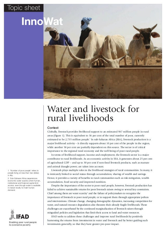 Topic sheet                InnoWat                                            Water and livestock for                     ...
