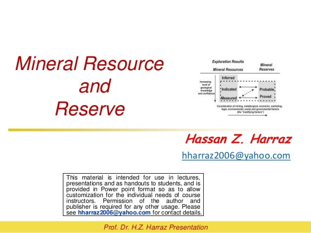 Topic 3 Mineral Resource And Reserve