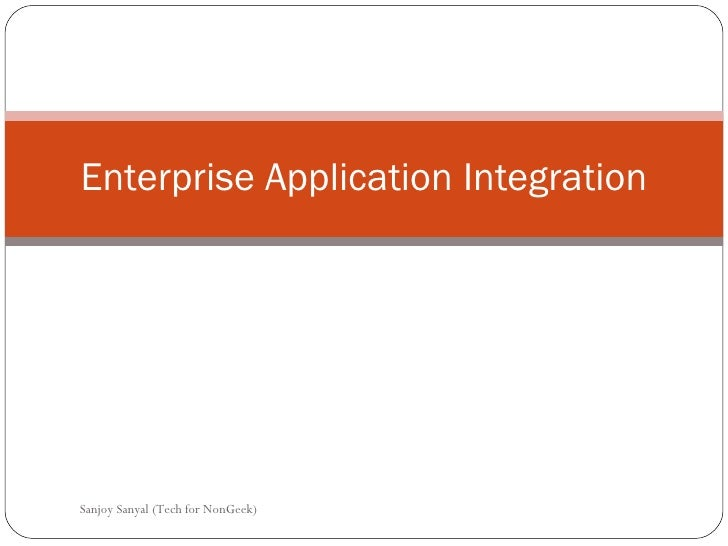 Topic3 Enterprise Application Integration