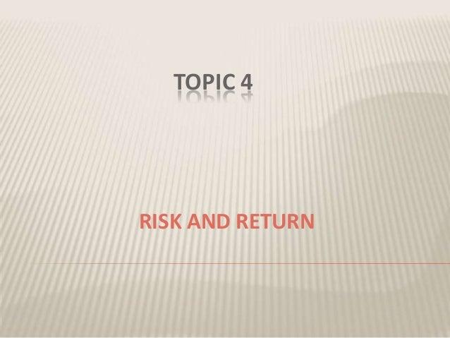 Topic 4[1] finance