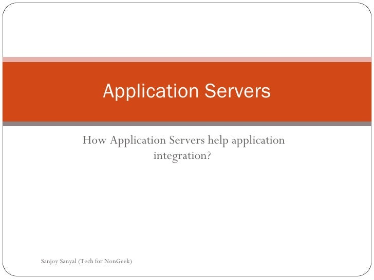 Topic4 Application Servers