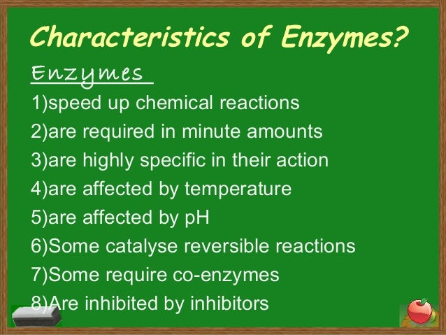 recognise the characteristics of enzymes and Review of the underpinning research  examples of teacher characteristics 18  we recognise that it may seem more obvious to.