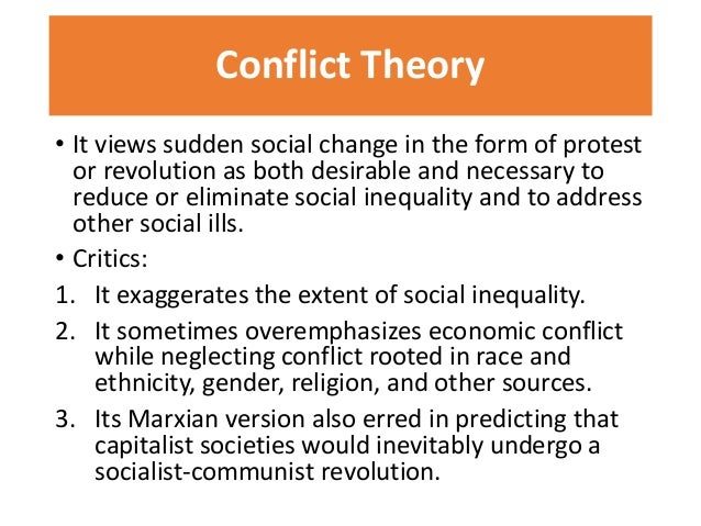 conflict theory in education pdf