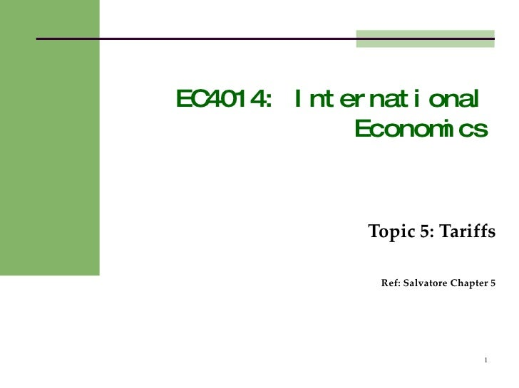 International Economics Guest Lecture