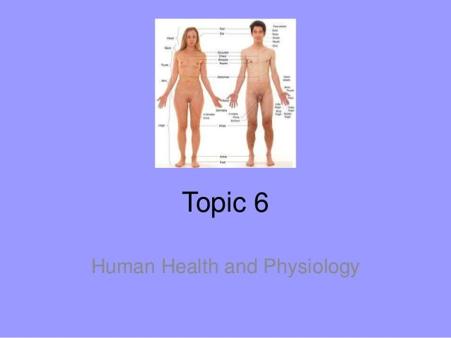 Topic 6Human Health and Physiology