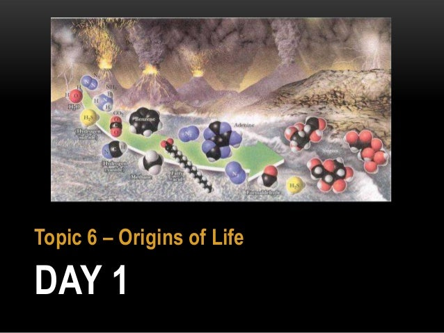 DAY 1 Topic 6 – Origins of Life