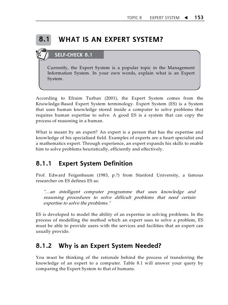 expert systems essay Use and problems of expert witnesses in court law this essay aims to examine of the expert evidence in inquisitorial systems due to lack of.