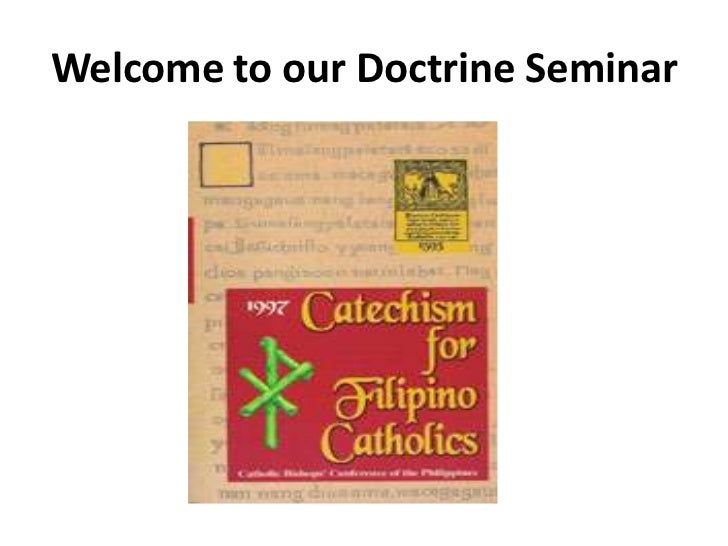 Welcome to our Doctrine Seminar