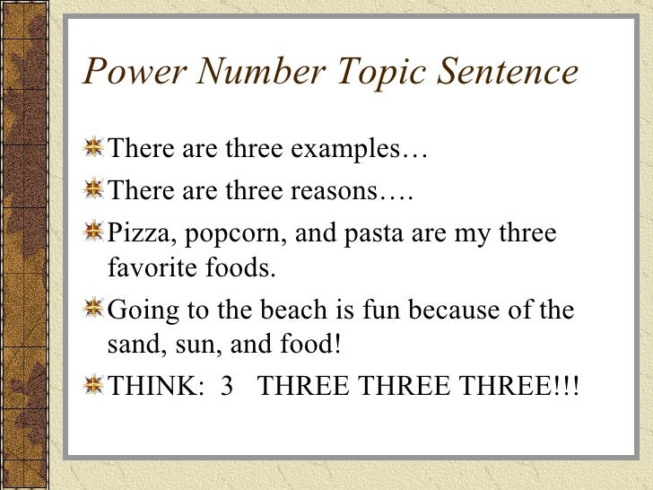 how to write a topic sentence for an essay