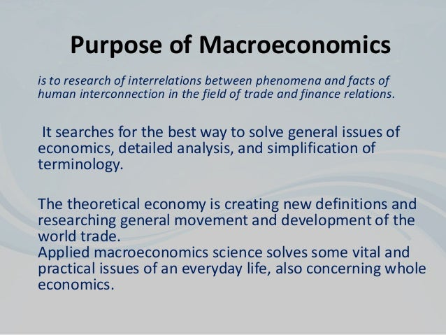 Macroeconomics research paper
