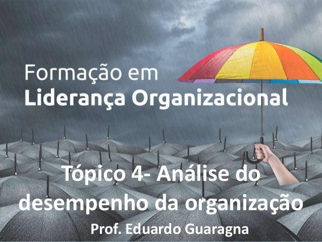 Tópico 4- Análise do desempenho da organização Prof. Eduardo Guaragna