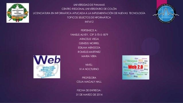 UNIVERSIDAD DE PANAMÁ CENTRO REGIONAL UNIVERSITARIO DE COLÓN LICENCIATURA EN INFORMÁTICA APLICADA A LA IMPLEMENTACIÓN DE N...