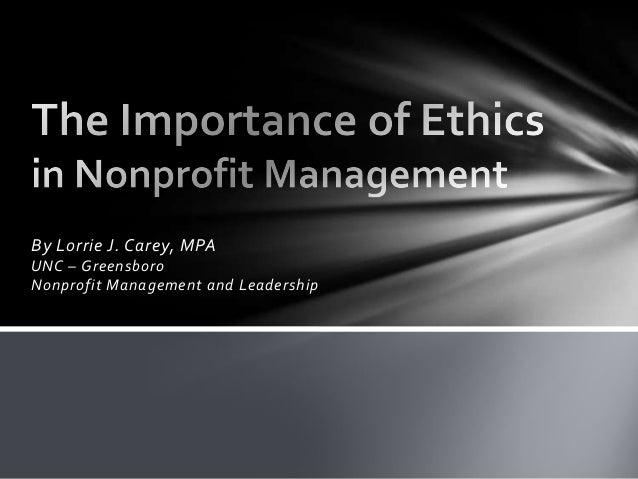 Topic presentation ethics in nonprofit management sans audio