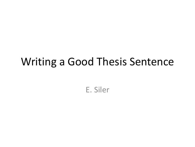 many sentences good thesis