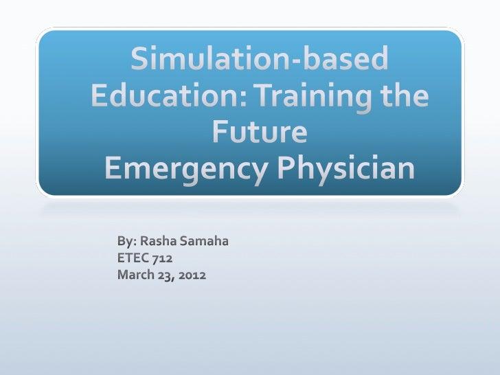 Simulation training in Emergency Medicine