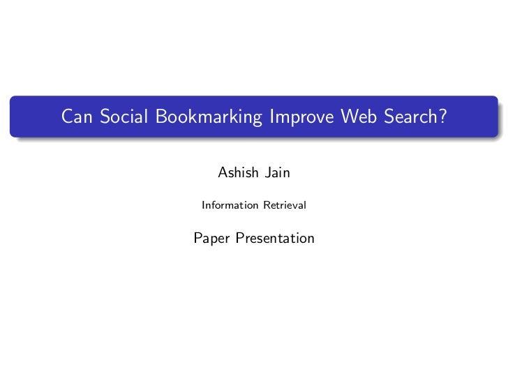Paper Presentation for INF 384H (http://courses.ischool.utexas.edu/Lease_Matt/2011/Fall/INF384H/)