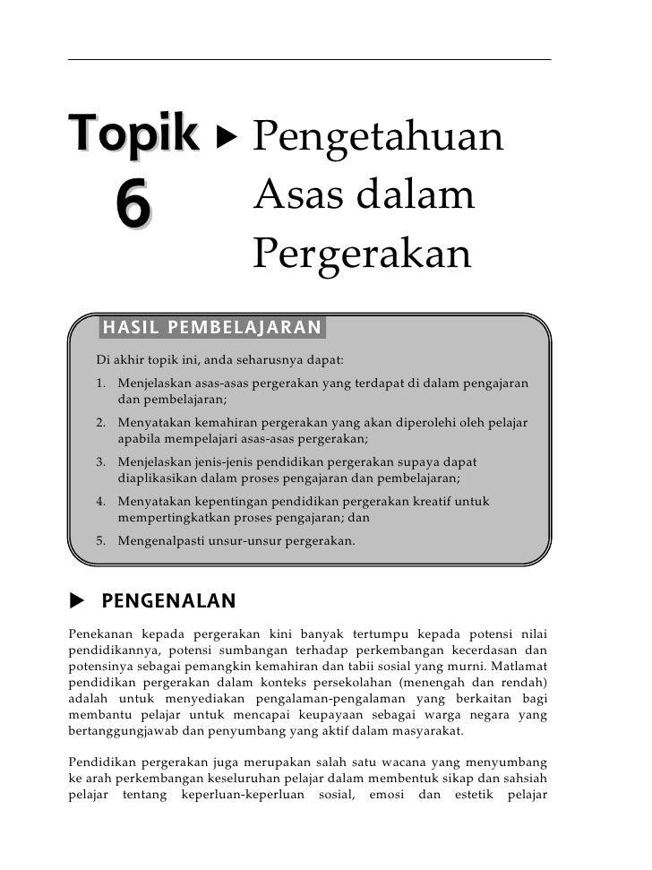 Topik 6 pengetahuan asas dalam pergerakan