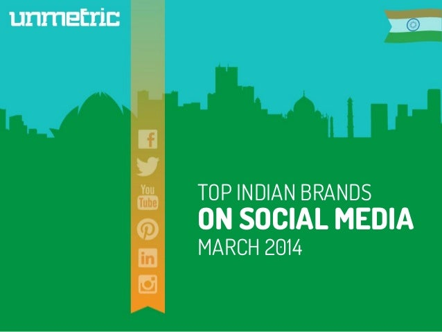 Top indian brands on social media in march 2014