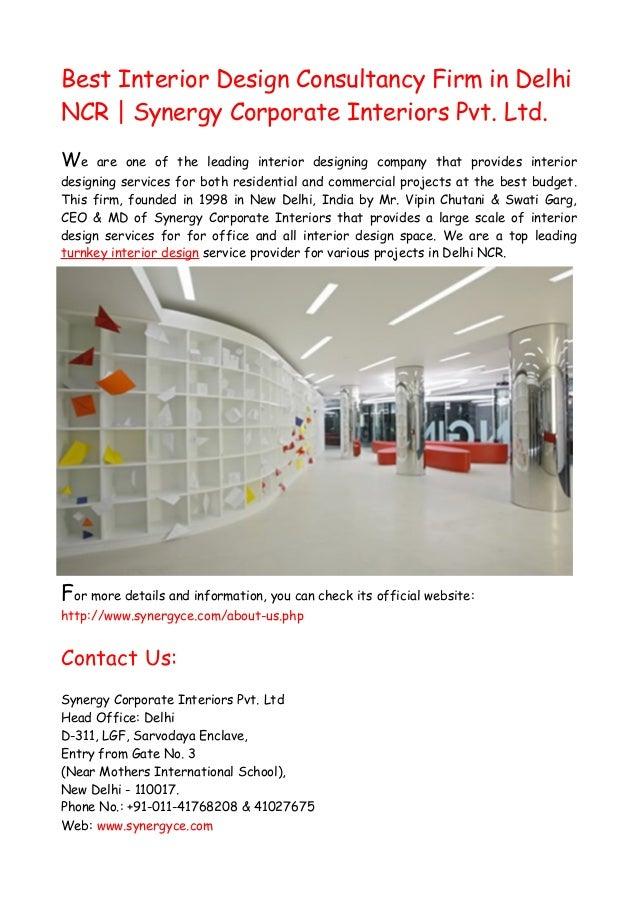 Top interior design consultancy firm in delhi for Best design consultancies