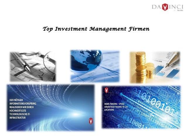 Top Investment Management Firmen