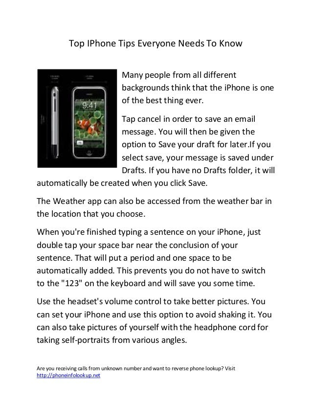 Top i phone tips everyone needs to know