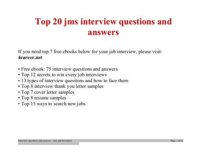 Top jms interview questions and answers job interview tips