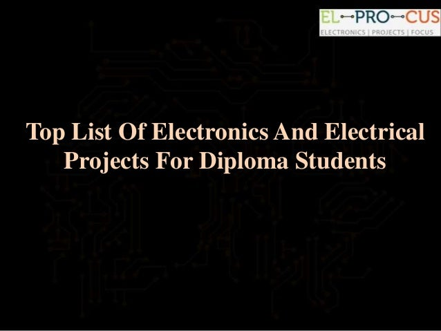Electrical projects for students