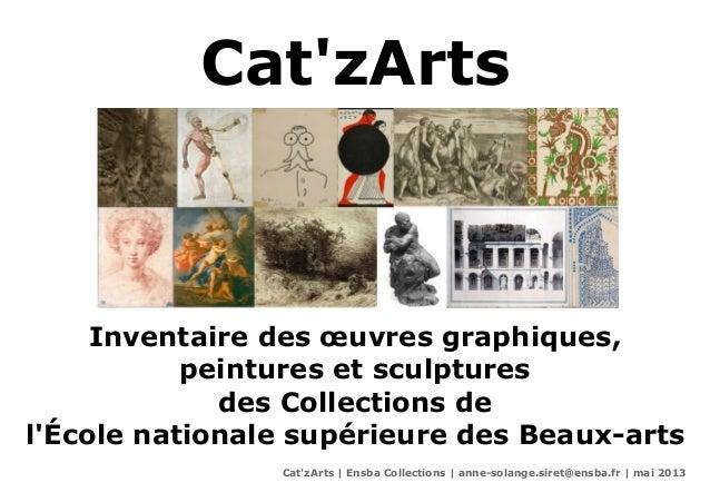 CatzArtsInventaire des œuvres graphiques,peintures et sculpturesdes Collections delÉcole nationale supérieure des Beaux-ar...