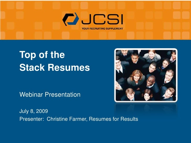 top of the stack resumes  5 ways to break through a noisy